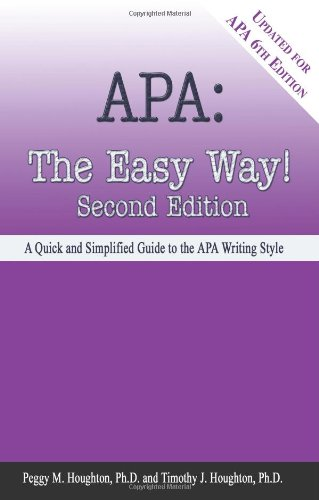 apa style made easy Shows some signs of wear, and may have some markings on the inside 100% money back guarantee shipped to over one million happy customers | ebay.