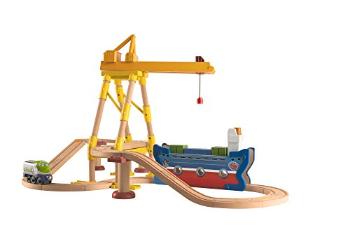 Chuggington Wooden Railway Easy Track- Dockyard Delivery