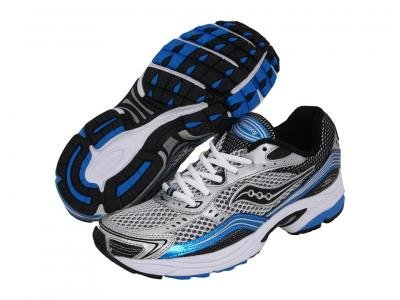 5f017537fe40 Saucony Men s Grid Fusion 3 Running Shoe Silver Royal Black 10 5 M ...