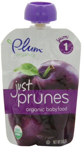 Plum Organics Baby Just Fruit, Prunes, 3.5-Ounce