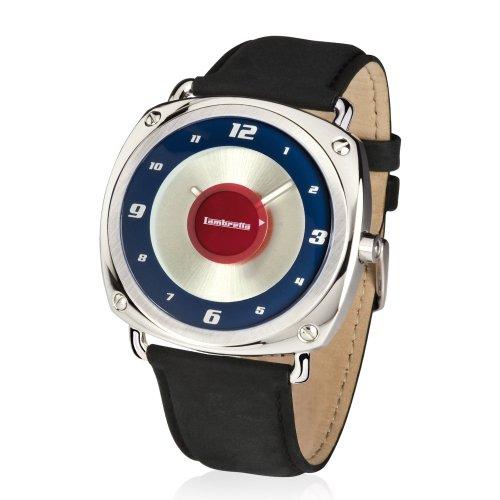The Bradford Exchange - Lambretta - Set de reloj y pulsera retro para hombre - Producto oficial - Cuero Brunori