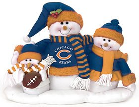 #!Cheap Chicago Bears NFL Football Plush Snowman Family Table Top Decoration