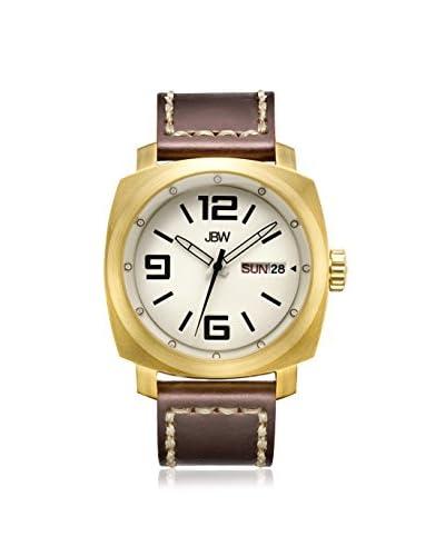 JBW Men's J6320B Fleet Brown/Silver Stainless Steel Watch