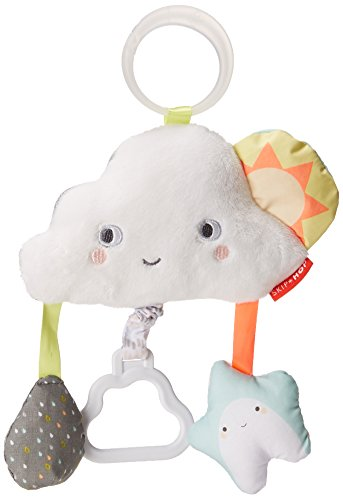 Skip Hop Baby Silver Lining Cloud Jitter Stroller Toy, Multi, Clouds