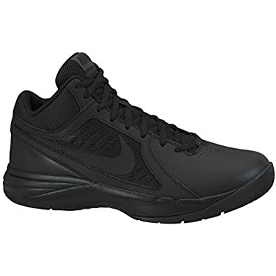 New Nike Men's The Overplay VIII Basketball Shoes Black/Black 6.5