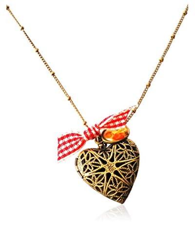 Johnny Loves Rosie Collar  Gingham Heart