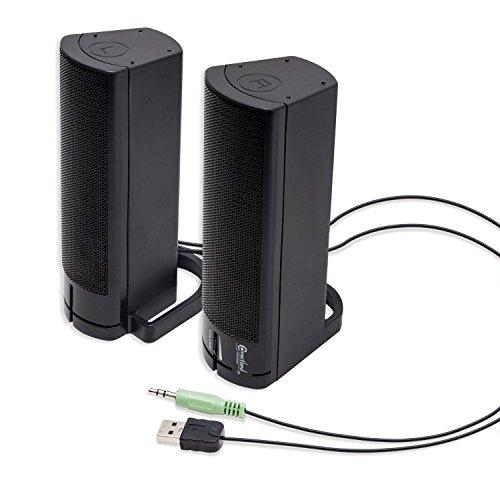 Connectland USB Powered Desktop Monitor Stereo Speaker Sound Bar (CL-SPK20037