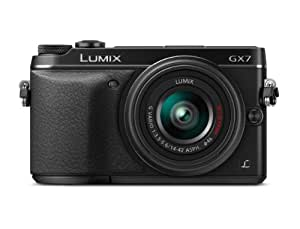 Panasonic LUMIX DMC GX7KS Compact System Camera with 14 42 II Lens Kit  Black  available at Amazon for Rs.108829