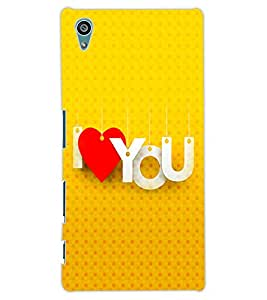 ColourCraft Love Quote Design Back Case Cover for SONY XPERIA Z5