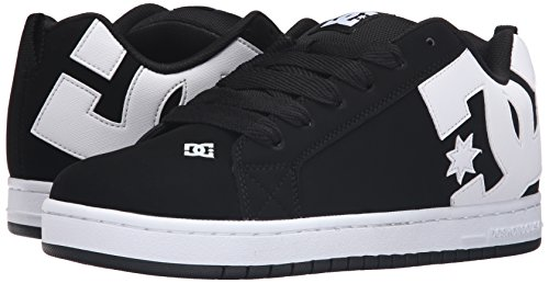 DC Men's Court Graffik Skateboarding Shoe, Black, 12 M US