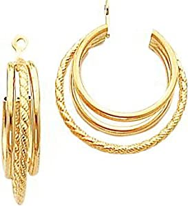14K Gold Twisted Love Knot Earring Jackets Jewelry