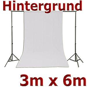 Fotohintergrund Fotostudio Stoff Hintergrund Baumwolle weiß 3x6 m 300x600 cm 3 x 6 m