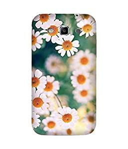White Flowers Samsung Galaxy Grand Duos I9082 Case