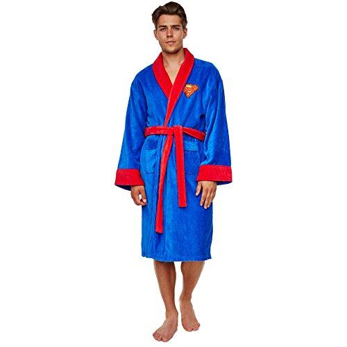 Superman - Accappatoio con logo - Per adulti - Blu