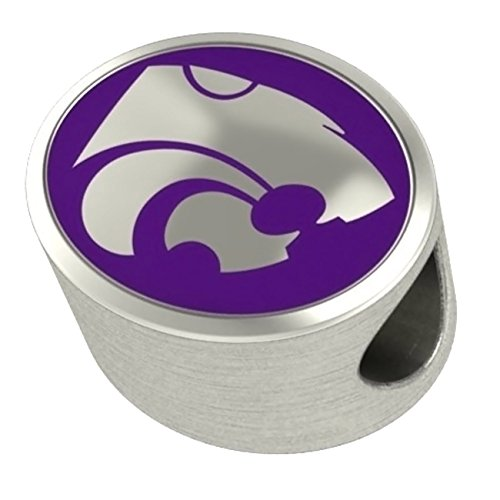 Kansas State Wildcats Bead Fits All Beaded Charm Bracelets