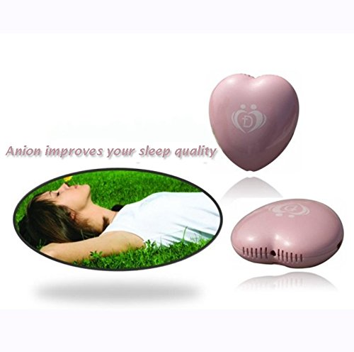 Onairmall® Olf-618 New Style Portable Mini Heart Shape Air Purifier Ozonizer Pendant-Ion Generator - Pink front-364388