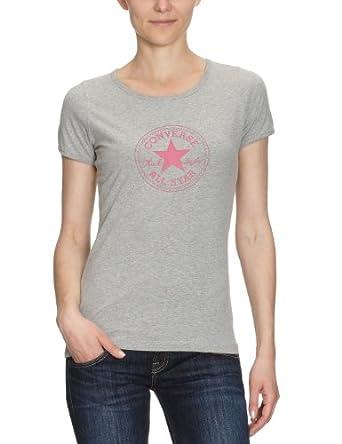 Converse  berry - T-shirt -Femme -  Gris chiné - XS