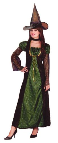 Rubies Halloween Sparkle Witch Adult Teen Small Dress Size 6-10 Green & Black