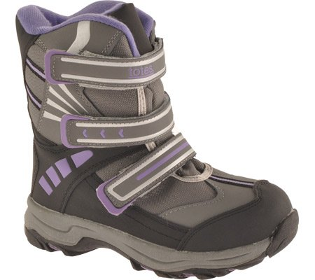 Totes Girls' Sari Winter Snow Boots,Purple,2 M US