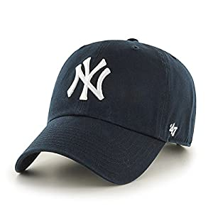 MLB New York Yankees Men's '47 Brand Home Clean Up Cap, Navy, One-Size (For Adults)