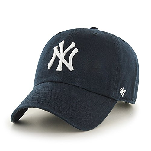 MLB New York Yankees Men's '47 Brand Home Clean Up Cap, Navy, One-Size (Ny York Yankees compare prices)