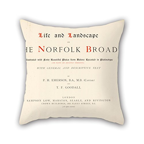 Elegancebeauty The Oil Painting Peter Henry Emerson (British, Born Cuba - Life And Landscape On The Norfolk Broads. Illustrated With Forty Beautiful Plates From Nature Execut Throw Pillow Case Of ,1
