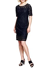 Floral Lace Shift Dress [T58-7795-S]