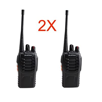 IMAGE® 1 Pair Handheld Walkie Talkie UHF Radio 3W FM 16 channel Transceiver 2-Way Radio 16 Channels With Rechargeable Battery by BrainyTrade