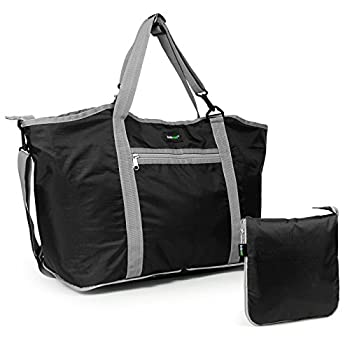 Lavievert Foldable Travel Duffle Bag Attached to Luggage Sports Gear Gym Bag for Outdoor Activities 2