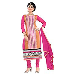 Pink & Beige Embroidered Salwar Kameez