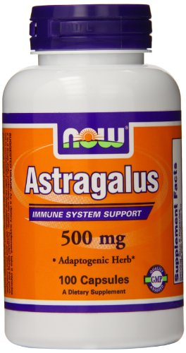 Now Foods Astragalus, 100 Capsules / 500Mg (Pack Of 4)