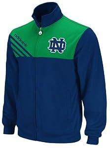 adidas Notre Dame Fighting Irish Navy Blue-Green Celebration Full Zip Track Jacket by adidas