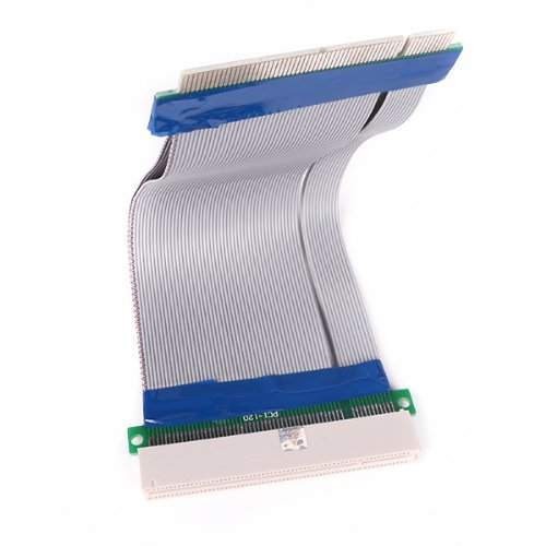 Generic Flexible 32 Bits PCI Riser Extender Card Adapter Ribbon Extension Cable