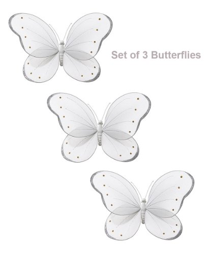 White Hanging Butterfly Decorations for Wedding Accessories Wedding Cake Decor wedding cake murder