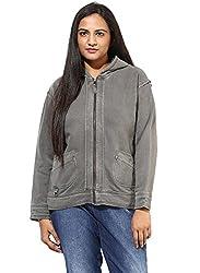 GRAIN Charcoal Color Regular fit Cotton Jackets for Women