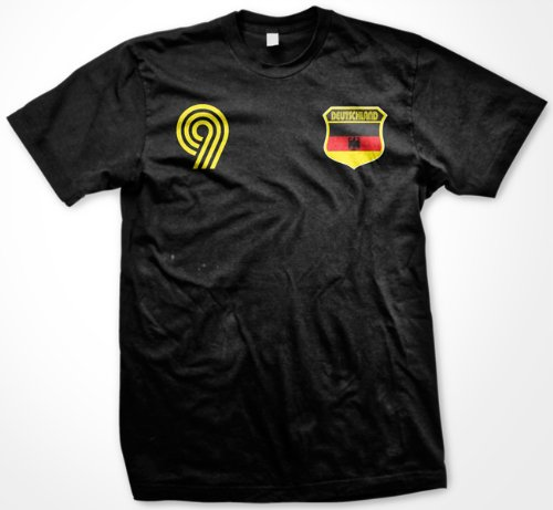 Deutschland Country Crest International Soccer T-shirt, Germany Soccer Mens T-shirt