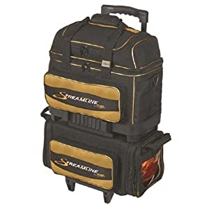 Storm Streamline 4 Ball Roller Bowling Bag- Black/Gold