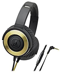 Audio-Technica Solid Bass ATH-WS550iSBGD Headphones with Mic (Black/Gold)