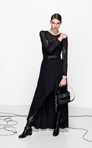 Lace Sleeve Maxi Dress