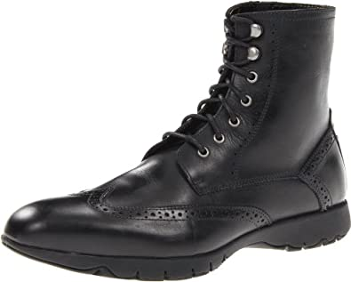 暇步士男子高帮真皮皮靴 黑色 Hush Puppies Men's Five Boot$148.26