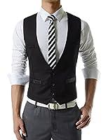 TheLees Men's Business Slim fit 3 Button Vest Waist Coat
