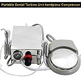 Lab Portable Mini Turbine Unit Work Compressor With 3 Way Syringe Kit 2 Holes