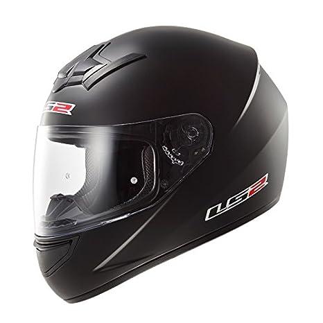 LS2 Casque de moto Ff352 Single Mono Matt Black