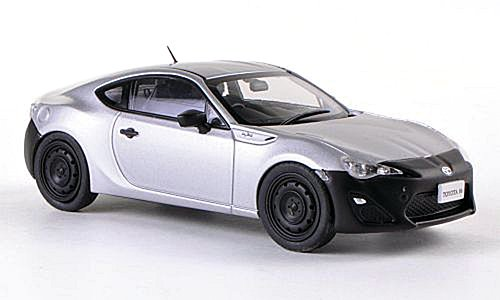 Toyota 86 RC, silver/matt black, RHD, 2012, Model Car, Ready-made, Ebbro 1:43