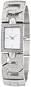 DKNY Ladies Stainless Steel Watch with Stone Set Bracelet and Silver Dial