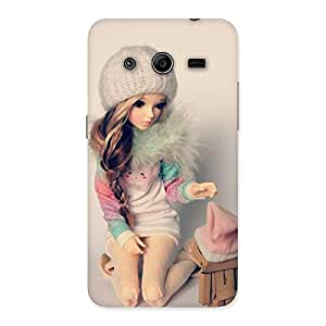Gorgeous Cute Winter Doll Multicolor Back Case Cover for Galaxy Core 2