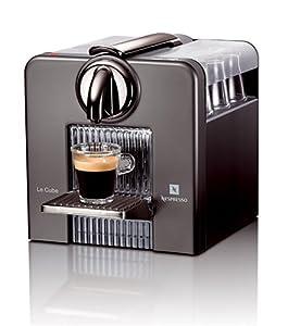 Nespresso C185T Le Cube Automatic Espresso Machine, Titan Gray from Nespresso