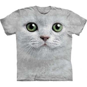 Green Eyes Cat Face The Mountain Tee Shirt