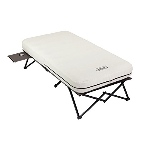 Coleman Twin Airbed Cot with Side Table and 4D Battery Pump,74 inches L X 23.5 inches W X 47.2 inches H (Coleman Camping Air Bed compare prices)