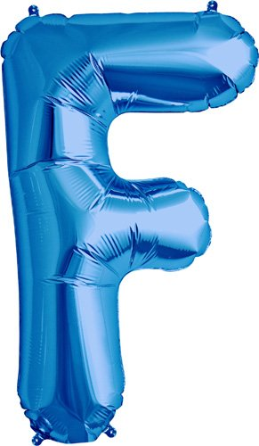Letter F - Blue Helium Foil Balloon - 34 inch - 1